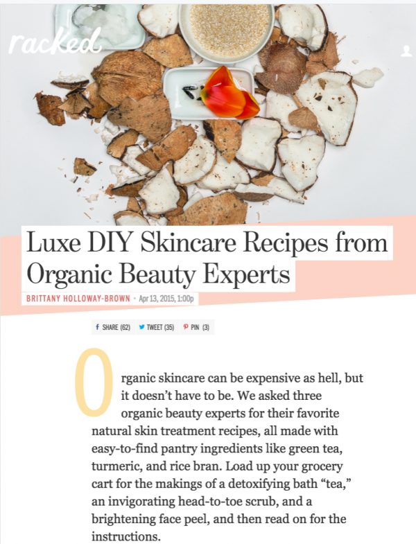 Luxe DIY Skincare Recipes from Organic Beauty Experts