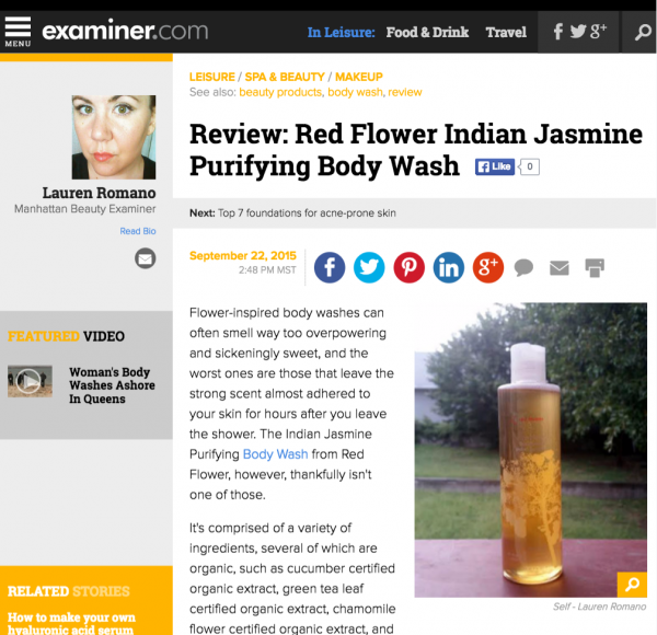 Review: Red Flower Indian JasminePurifying Body Wash