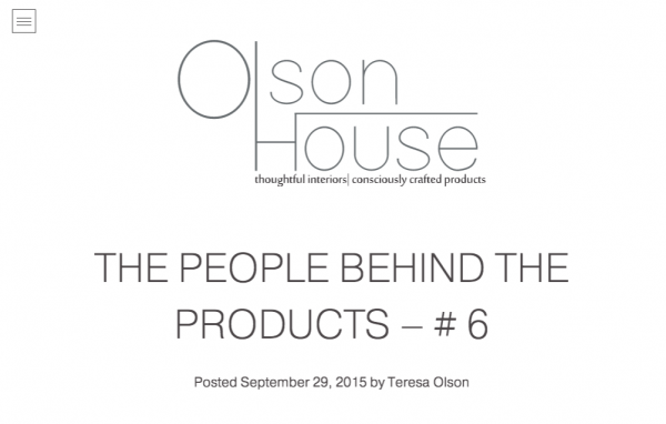 THE PEOPLE BEHIND THE PRODUCTS – # 6