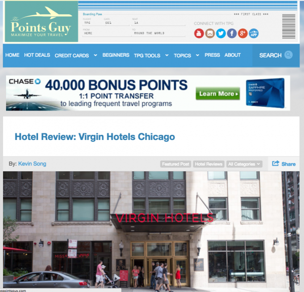 Hotel Review: Virgin Hotels Chicago