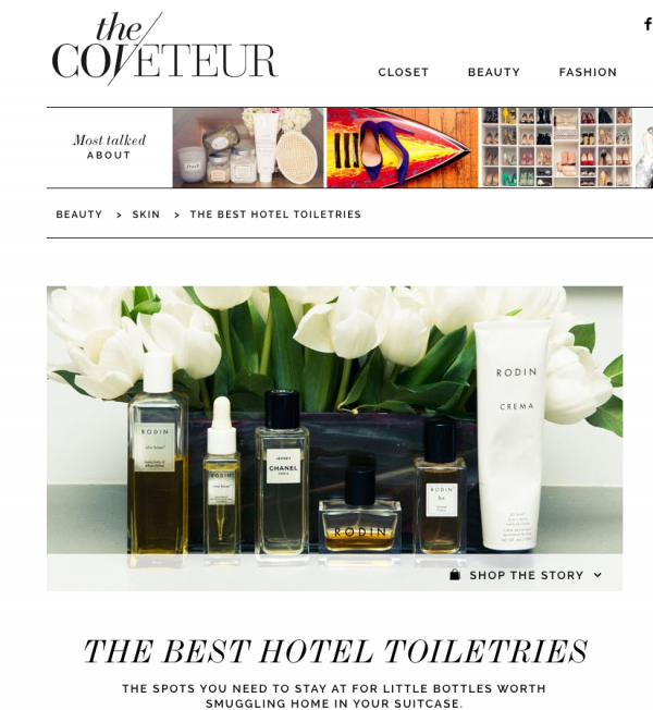 THE BEST HOTEL TOILETRIES