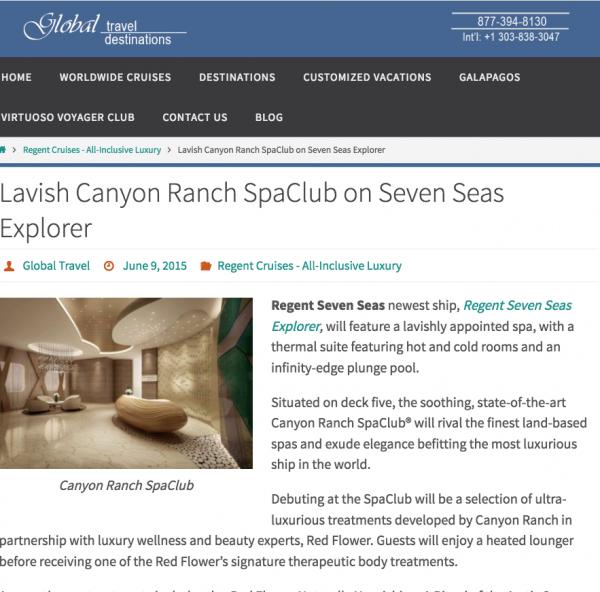 Lavish Canyon Ranch SpaClub on Seven Seas Explorer