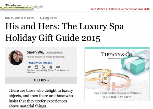 His and Hers: The Luxury SpaHoliday Gift Guide 2015
