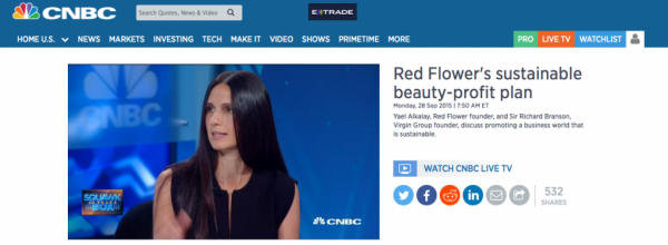 CNBC: Red Flower's sustainable beauty-profit plan