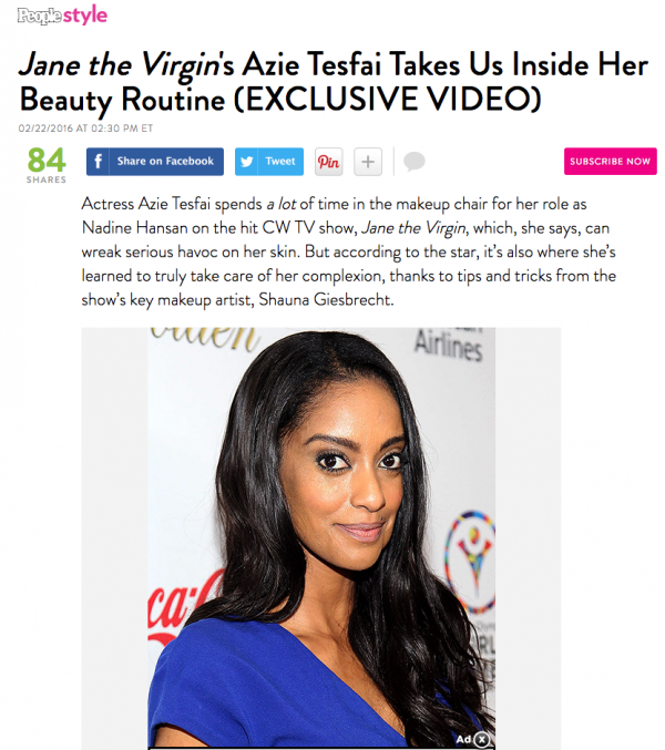 Jane the Virgin's Azie Tesfai Takes Us Inside Her Beauty Routine