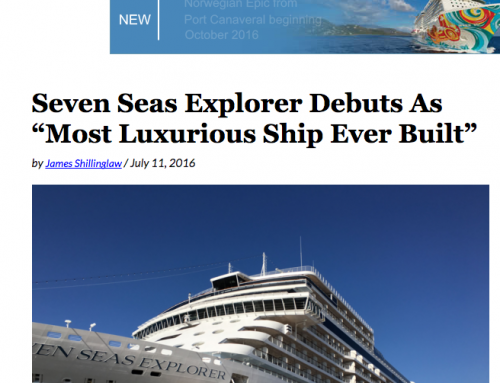 "Seven Seas Explorer Debuts As ""Most Luxurious Ship Ever Built"""