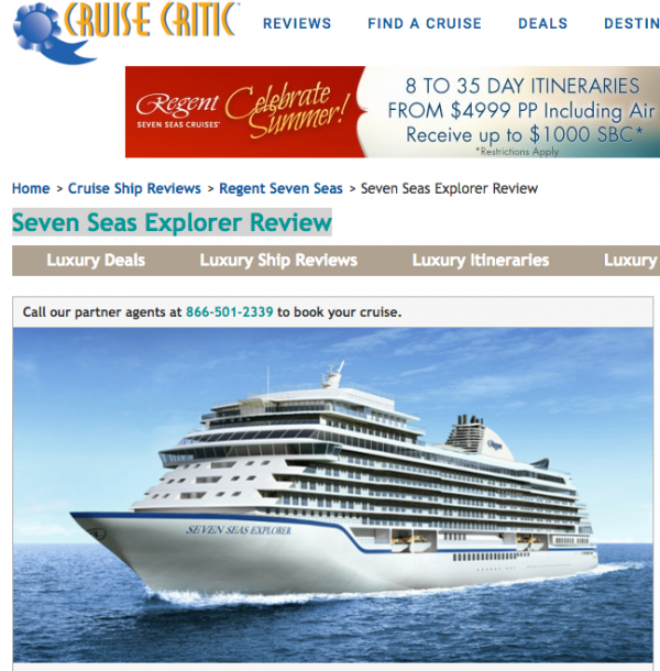 Seven Seas Explorer Review