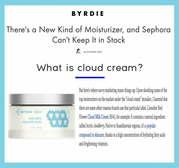Arctic Berry Cloud Milk Cream in Byrdie