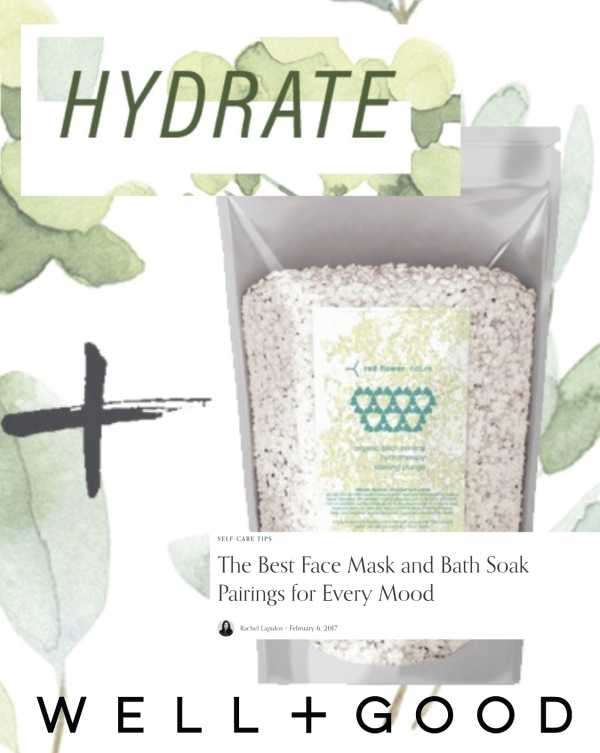 For hydration, Red Flower Organic Birch Mineral Hydrotherapy Soaking Plunge